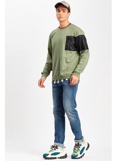 Manche Sweatshirt Haki